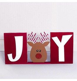 ADAMS & CO. JOY w/Reindeer Block Set