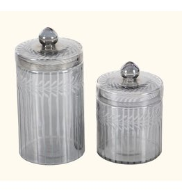 UMA ENTERPRISES INC. Glass Decorative Jar Set of 2