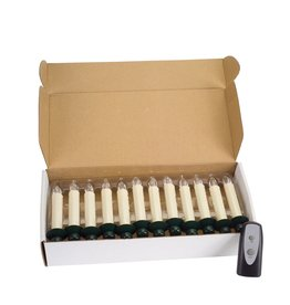 MelRose LED CLIP-ON TAPER CANDLE/ 12PC