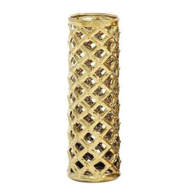 UMA ENTERPRISES INC. Gold Honeycomb Vase - WIDE