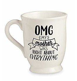 Mud Pie Mother's Day Mug - RIGHT ABOUT EVERYTHING