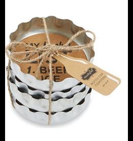 Mud Pie Beer Bottle Coaster Set