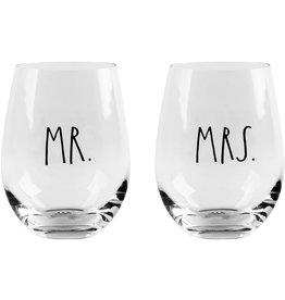 Home Essentials Mr & Mrs Stemless Wine