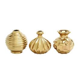 UMA ENTERPRISES INC. Ceramic Gold Vase