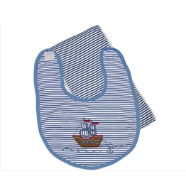 Maison Chic Pirate Ship Bib & Burp Set