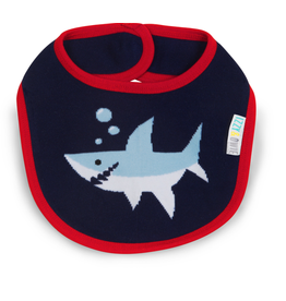 Pavilion Red and Navy Shark Bib
