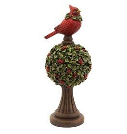 MelRose Mistletoe Topiary With Cardinal (Large)