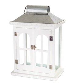 MelRose Large White French Door Lantern