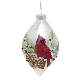 MelRose Diamond Shape Cardinal Ornament