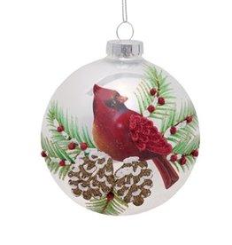 MelRose Round Cardinal Ornament