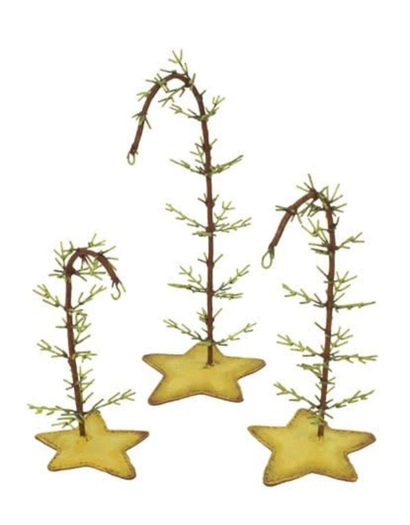 Round Top Collection Twig ornament trees- small