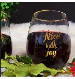 8 Oak Lane Stemless Wine - FILLED WITH JOY