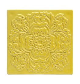 CR GIBSON Yellow Ceramic Trivet