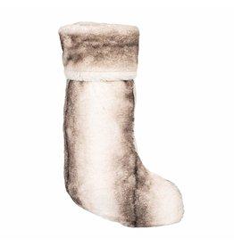 8 Oak Lane Luxe Faux Fur Stocking Grey