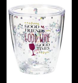 Stemless Sequin Wine Glass