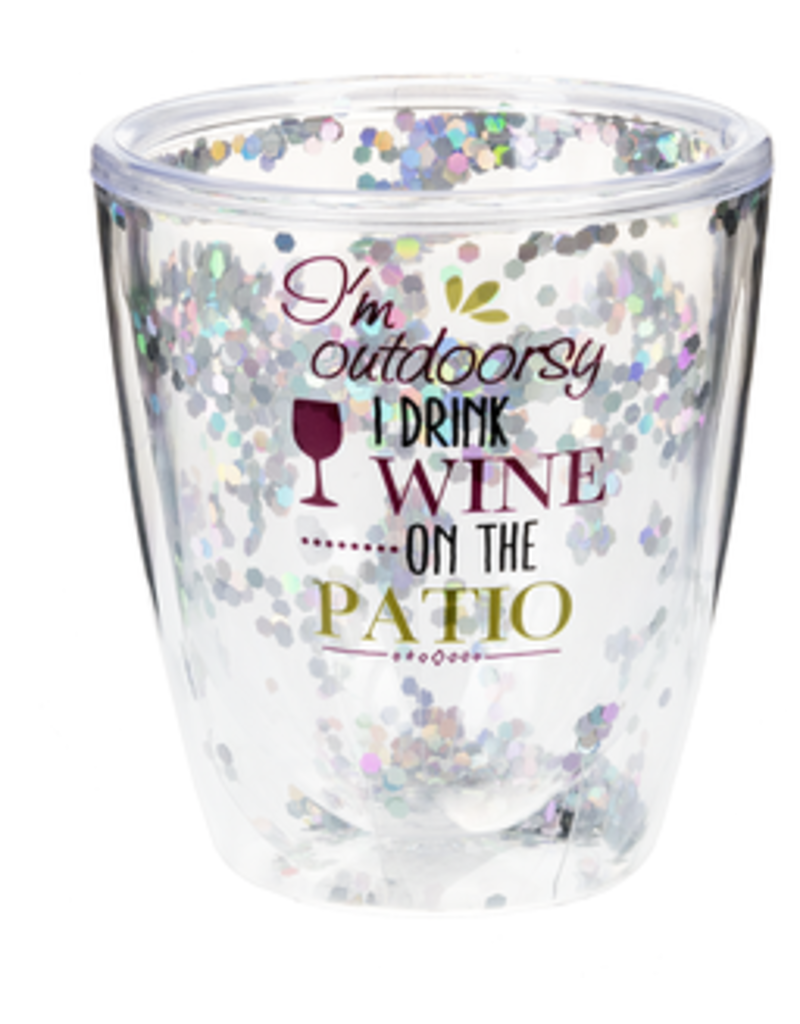 Stemless Sequin Wine Glass
