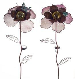 MelRose Solar Flower Garden Stake
