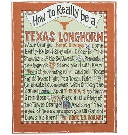 TEXAS LONGHORN Canvas Frame