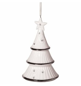 MIDWEST CBK Tree Bell Traditions Ornament Porcelain