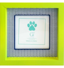 Dog Stripe Frame (green & navy)
