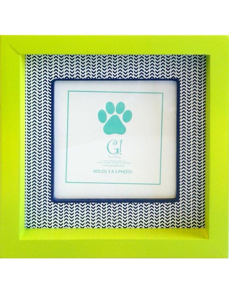 Dog Stripe Frame (green & navy)