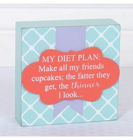 ADAMS & CO. DIET PLAN Wood Box Frame