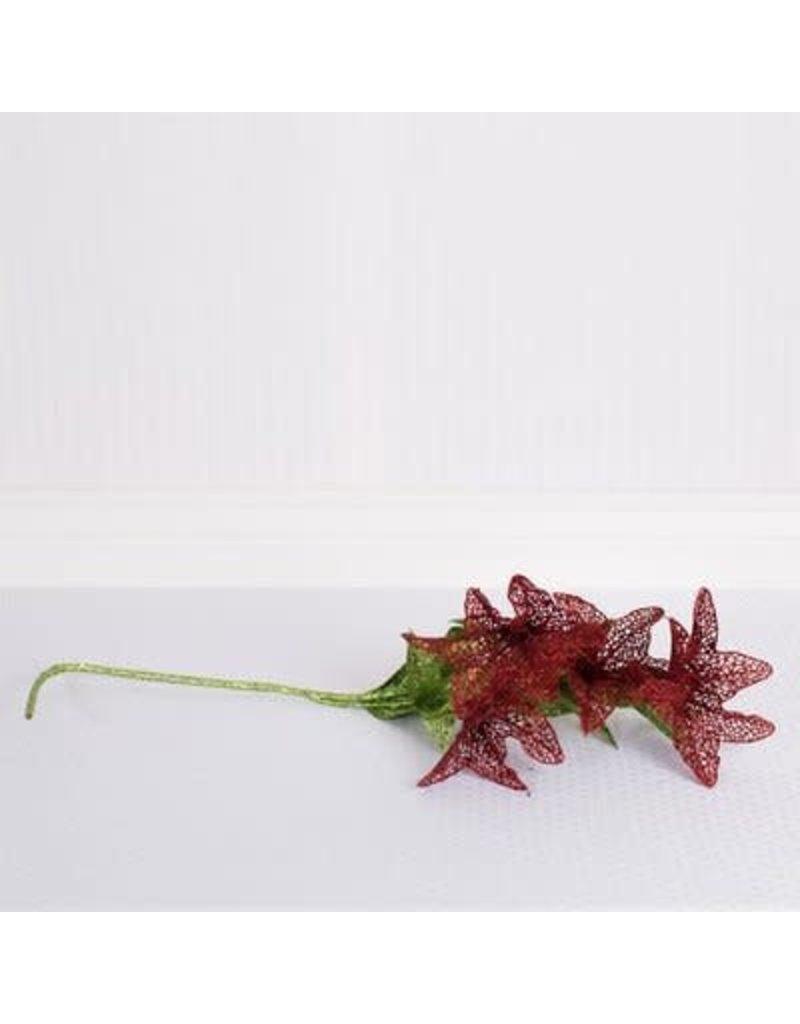 "ADAMS & CO. 37"" Poinsettia red/green"