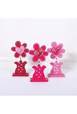 ADAMS & CO. Pink Wood Flowers