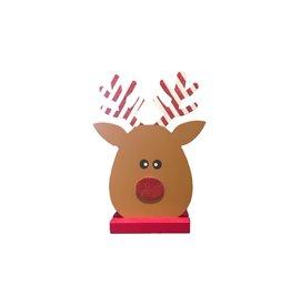 ADAMS & CO. Wood Reindeer Face