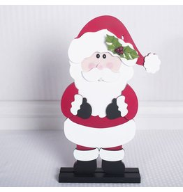 ADAMS & CO. Santa with Holly Leaves