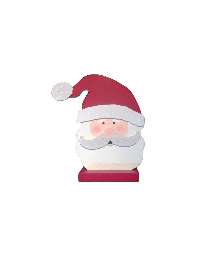 ADAMS & CO. Wood Santa Face