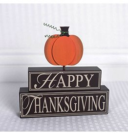 ADAMS & CO. HAPPY THANKSGIVING Wood Brick Set