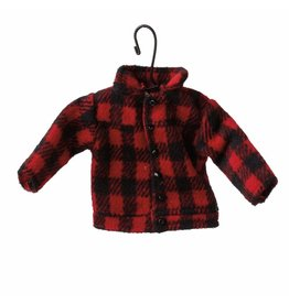 MIDWEST CBK Red Plaid Coat Ornament