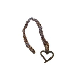Hammered Heart Pendant - Copper
