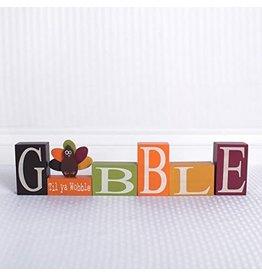 ADAMS & CO. GOBBLE Wood Block Set