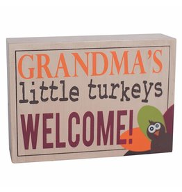 ADAMS & CO. GRANDMA'S LITTLE TURKEYS Block