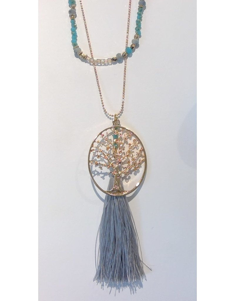 Tree of Life Family Necklace - blue