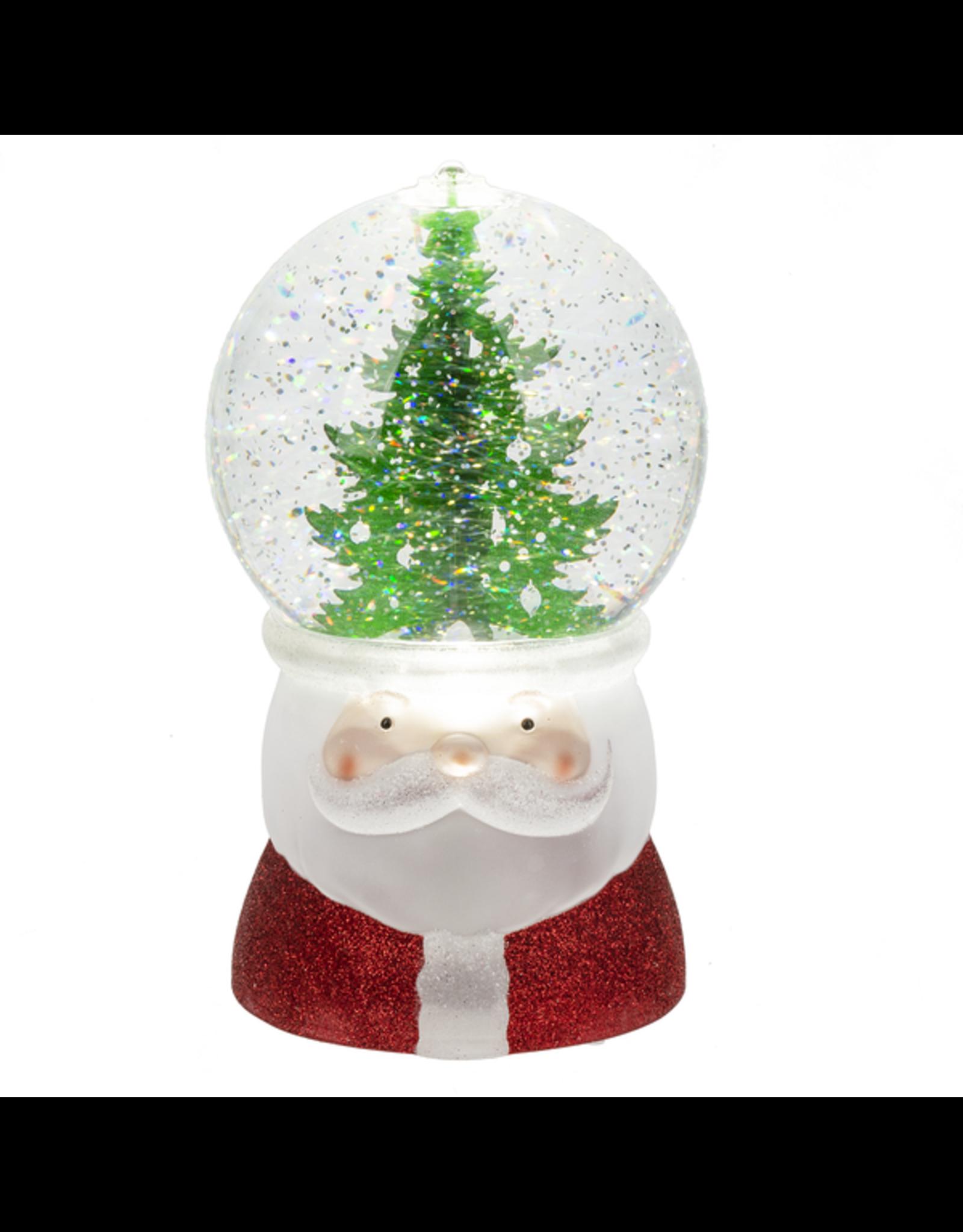 Tree on Santa Shimmer Globe