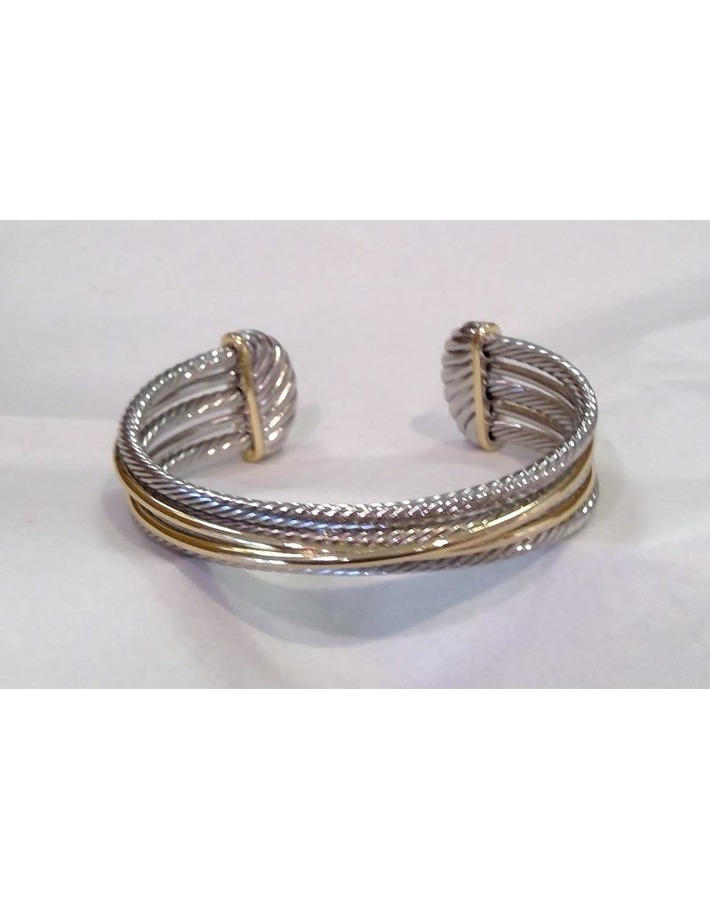 Fossick Imports Gold Crossover Cuff