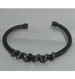 Fossick Imports Black Cuff Wrap Bracelet