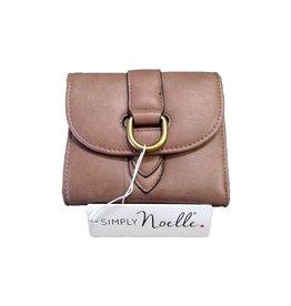 NOELLE, LLC Buckle Down Snap Wallet-TAUPE