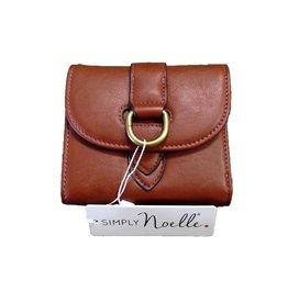 NOELLE, LLC Buckle Down Snap Wallet-CINNAMON