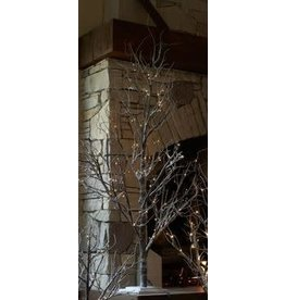 Melrose International Tree w/ Snow & 48 LED Lights