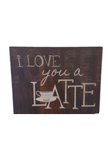 New Dawn Gift and Decor I LOVE YOU A LATTE Box Frame