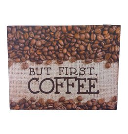 New Dawn Gift and Decor BUT FIRST, COFFEE Box Frame