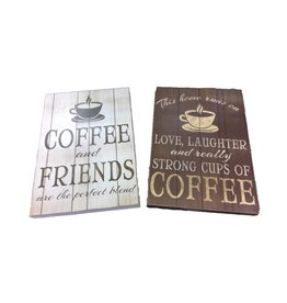 Wood COFFEE Wall Signs
