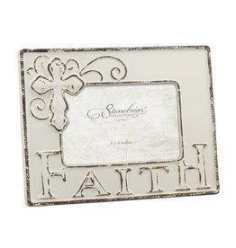 Worn White Ceramic FAITH Frame