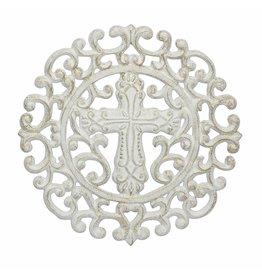 White Cast-iron CROSS Trivet