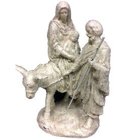 K&K Interiors White Glitter Nativity w/Donkey Figurine
