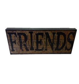 FRIENDS Block Sign